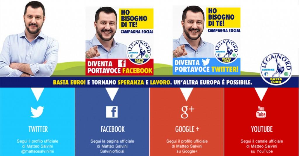 Informatica filosofica per la campagna online di Matteo Salvini