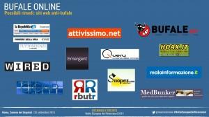 Possibili rimedi: siti web anti-bufale